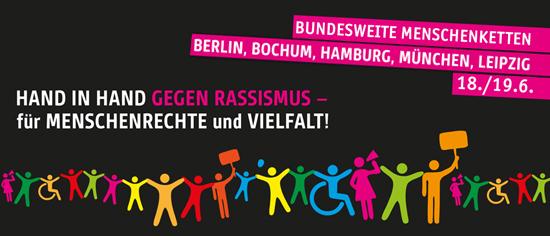 Hand in Hand gegen Rassismus – für Menschenrechte und Vielfalt!