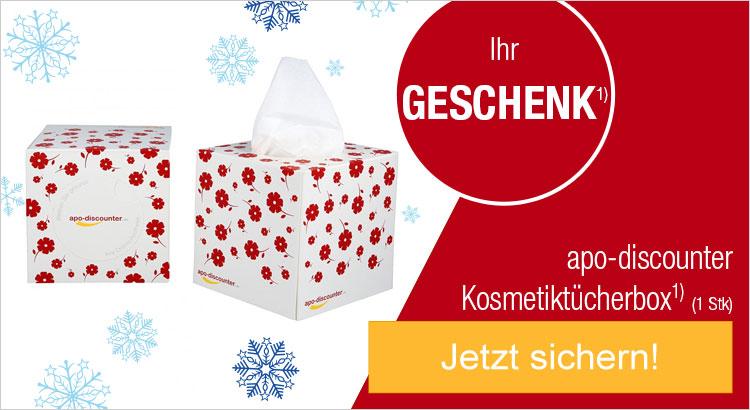 Ihr Geschenk: apo-discounter Kosmetiktücherbox (1 stk)