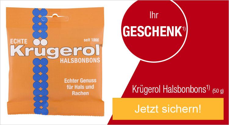 Ihr Geschenk: Krügerol Halsbonbons (50 g)