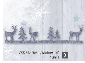 "VBS Filz-Deko ""Winterwald"""