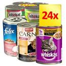 24 x 400 g Top-Marken Katzenfutter