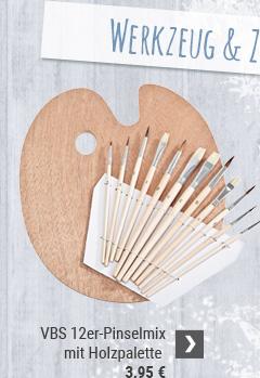 VBS Pinselmix mit Holzpalette, 12er-Set
